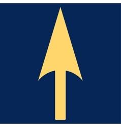 Arrow axis y flat yellow color icon vector