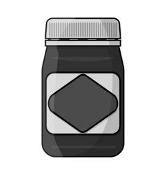 Australian food spread icon in monochrome style vector