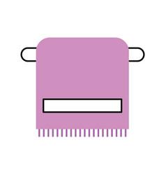 Bathroom towel on the rack cotton higiene vector