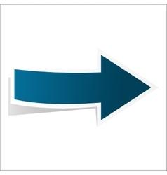 Blue best arrow vector