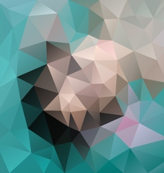 blue green beige gray colored polygon triangular vector image vector image