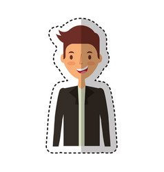 businessman avatar character icon vector image vector image