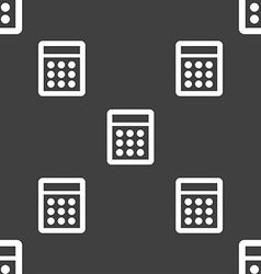 Calculator sign icon Bookkeeping symbol Seamless vector image
