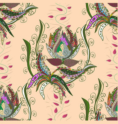Cute fabric pattern colour spring theme seamless vector