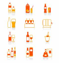 drink bottles icon juicy series vector image