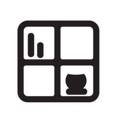 Flat icon in black and white style shelf vector