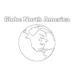 Globe north america view vector