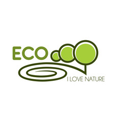 Green tree icon for eco environment nature love vector