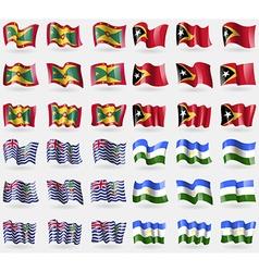 Grenada east timor british indian ocean territory vector