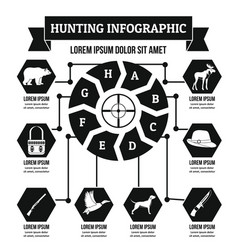 hunting infographic concept simple style vector image