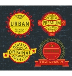 Insignia applique label vector
