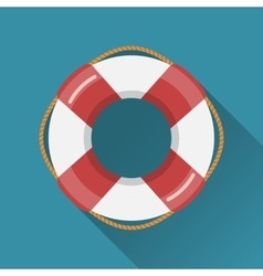 Lifebuoy flat icon vector