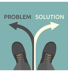 Man problem and solution vector image