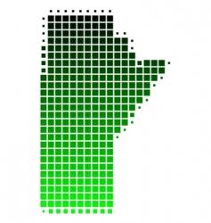 Map of manitoba vector