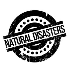Natural disasters rubber stamp vector