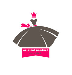 original products designers boutique logotype with vector image vector image
