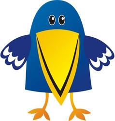 Raven cute cartoon vector image vector image