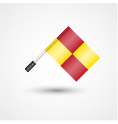 referee flag icon vector image