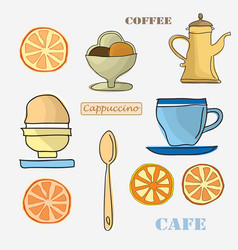 set of menu items vector image