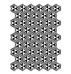 Star block pattern vector image