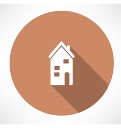 two-storey house icon vector image vector image
