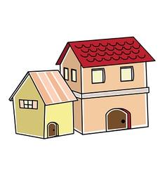 villa vector image