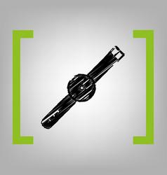watch sign black scribble vector image vector image