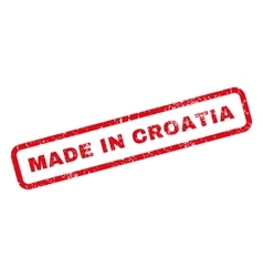 Made in croatia rubber stamp vector