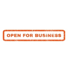 Open for business rubber stamp vector
