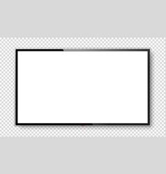Realistic tv screen mock up vector
