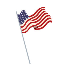 United states of america flag waving symbol vector