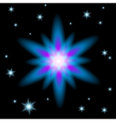 Bright glowing christmas star vector
