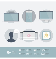 Web design elements inforgraphics vector