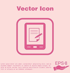Tablet pad with sheet of paper vector