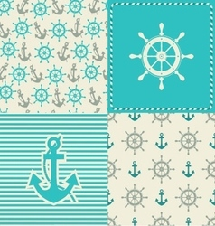 Set sea seamless vector
