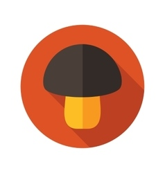 Mushroom flat icon with long shadow vector