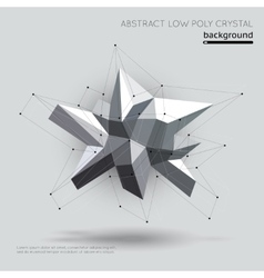 Abstract low poly crystal with connection vector