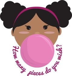 Bubble gum wish vector