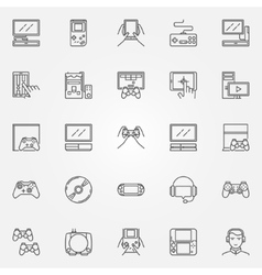 Game console icons set vector