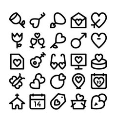 Love and romance icons 9 vector