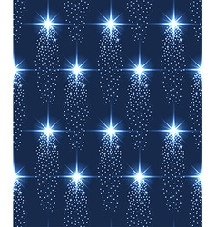 Seamless stars pattern in blue vector