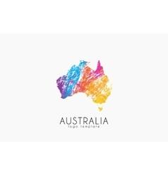 Abstract australia logo color australia logo vector