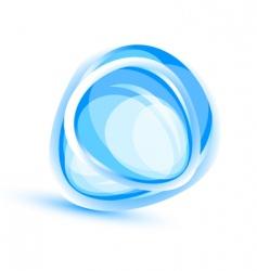 aqua element background vector image vector image