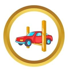Car lifting icon vector