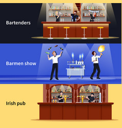 cocktail people banner set vector image