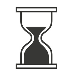 Computer mouse hourglass pointer isolated icon vector image vector image