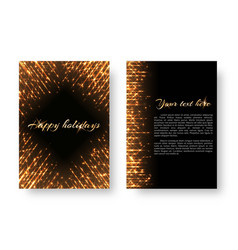 cover with iridescent lights vector image vector image