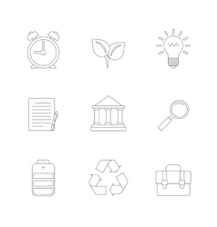 Flat Line Icons Set vector image vector image