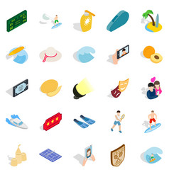 Gladness icons set isometric style vector