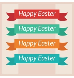 Happy Easter card template vector image vector image